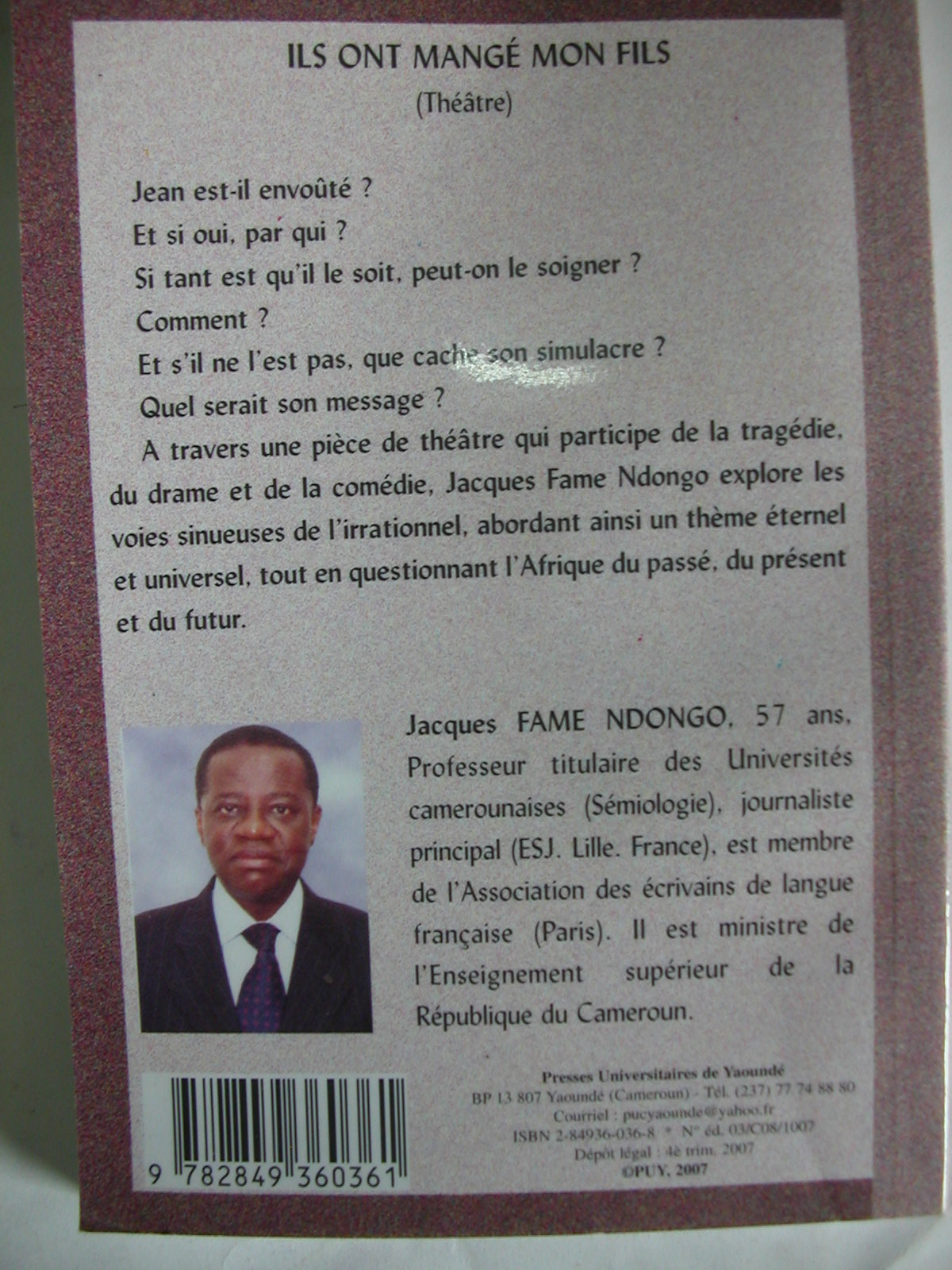 Ils ont mangé mon fils-Jacques Fame Ndongo (2008)2