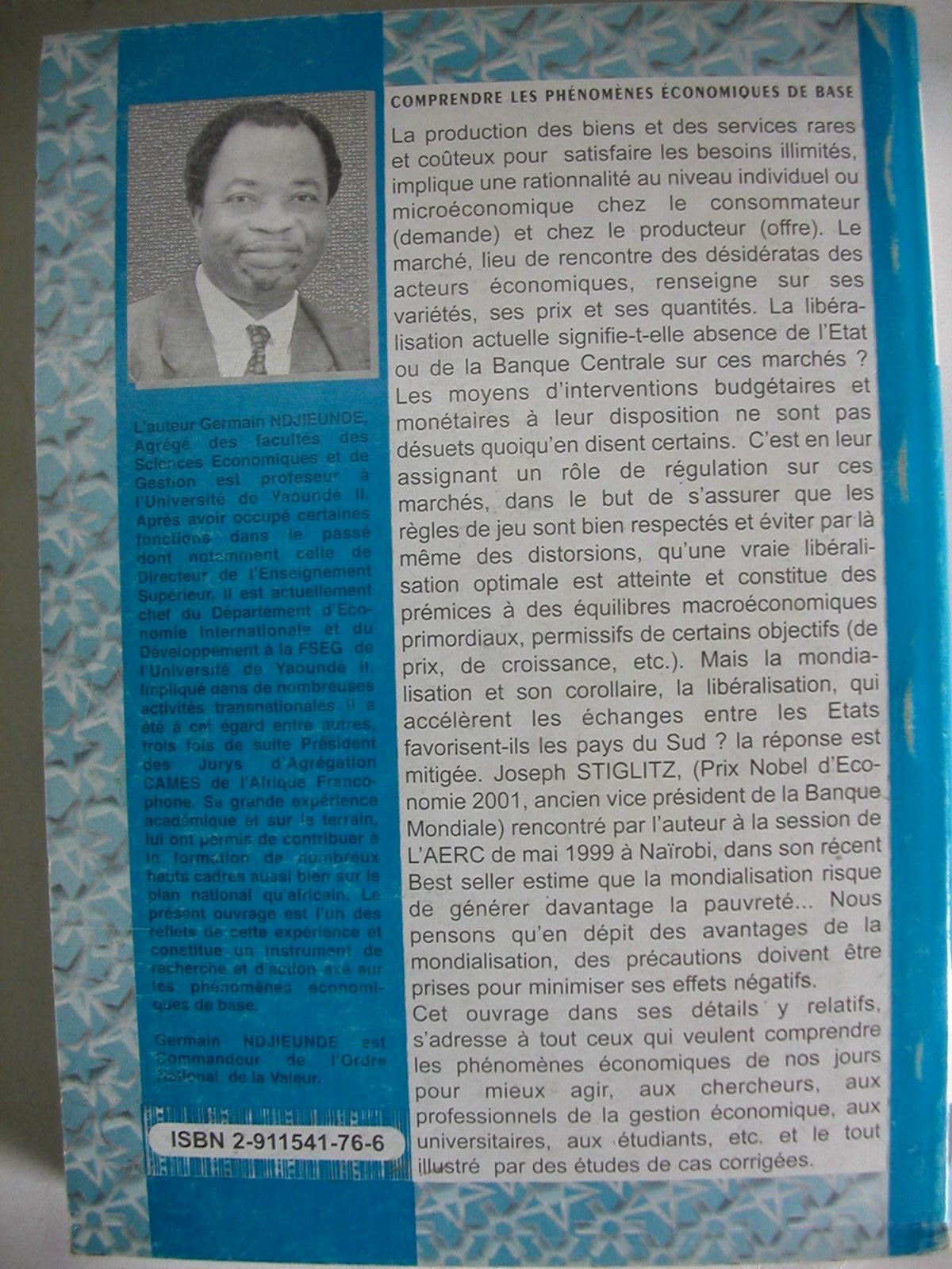 Comprendre les phénomènes économiques de base (2002)2