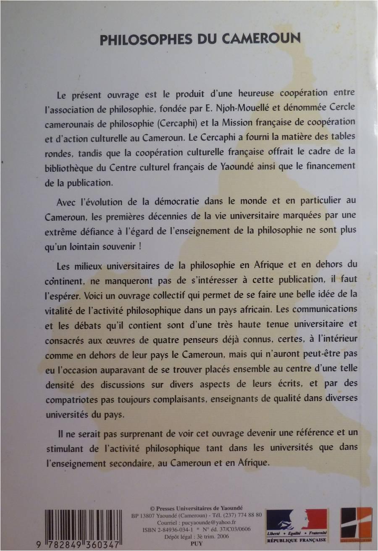 Philosophes du Cameroun-E. Njoh Mouellé, E. Kenmogne (2006)2